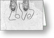 Sneakers Greeting Cards - Sneaker Love 2 Greeting Card by Paul Ward