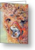Lashes Greeting Cards - Snickers Greeting Card by Kimberly Santini