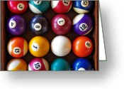 Game Seven Greeting Cards - Snooker Balls Greeting Card by Carlos Caetano