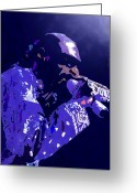 Producer Greeting Cards - Snoop Doggy Dogg Greeting Card by Byron Fli Walker