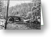 Philadelphia Greeting Cards - Snow Along the Wissahickon Creek Greeting Card by Bill Cannon