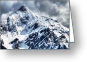 B.c Greeting Cards - Snow Cap Greeting Card by David  Naman