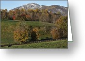 Shenandoah Greeting Cards - Snow Capped Old Rag Mountain - Virginia Greeting Card by Brendan Reals