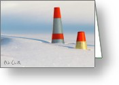 Cold Photo Greeting Cards - Snow Cones Greeting Card by Bob Orsillo