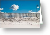 Rochester Ny Greeting Cards - Snow Fence Greeting Card by Ken Marsh