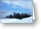 Joann Skywatcher Greeting Cards - Snow Light Greeting Card by JoAnn SkyWatcher