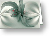 Photo-realism Digital Art Greeting Cards - Snow Lilies Greeting Card by Irma BACKELANT