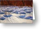 Storm Prints Greeting Cards - Snow Mounds Greeting Card by Daydre Hamilton