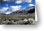 The Supes Greeting Cards - Snow on the Superstitions  Greeting Card by Saija  Lehtonen