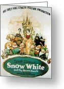 Motion Picture Greeting Cards - Snow White and the Seven Dwarfs Greeting Card by Nomad Art and  Design