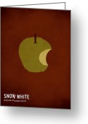 White Digital Art Greeting Cards - Snow White Greeting Card by Christian Jackson