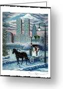 Ice Skater Greeting Cards - Snowbound Greeting Card by Tracy Dennison