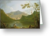 Anglers Greeting Cards - Snowdon Greeting Card by Richard Wilson