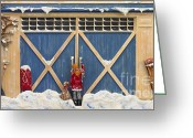 Snow Capped Sculpture Greeting Cards - Snowed In Greeting Card by Anne Klar