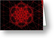 Ripple Space Time Greeting Cards - Snowflake shape comes from frequency and mass Greeting Card by Jason Padgett