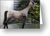 Horse Sculpture Greeting Cards - Snowflake Greeting Card by Yelena Rubin