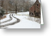 Driveways Greeting Cards - Snowy Days Greeting Card by Michael Barbee