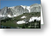 Snowy Range Greeting Cards - Snowy Range Greeting Card by Paula Cork