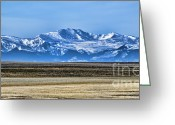 Snowy Range Greeting Cards - Snowy Rockies Greeting Card by Heather Applegate