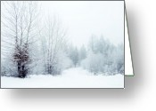Winter Trees Greeting Cards - Snowy Sunday Greeting Card by Tara Turner