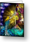 Pan Greeting Cards - So come with me where dreams are born Greeting Card by Mandie Manzano