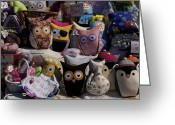 Toys Tapestries - Textiles Greeting Cards - So Many Eyes Looking Greeting Card by Michael Clarke JP
