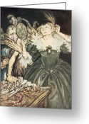 Rackham Greeting Cards - So Perfect is their Misery Greeting Card by Arthur Rackham