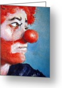 Featured Painting Greeting Cards - So Sad Greeting Card by Myra Evans