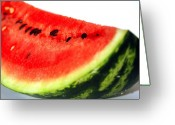 Watermelon Photo Greeting Cards - So Sweet Greeting Card by Deborah MacQuarrie