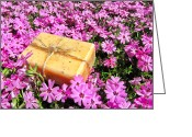 Twine Greeting Cards - Soap on Flowers Greeting Card by Olivier Le Queinec