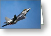 Afterburner Greeting Cards - Soaring Greeting Card by Mitch Cat