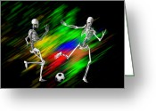 Soccer Sport Greeting Cards - Soccer Greeting Card by Carol and Mike Werner