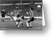Manchester Greeting Cards - Soccer Match, 1976 Greeting Card by Granger