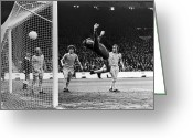 Manchester Greeting Cards - Soccer Match, 1977 Greeting Card by Granger
