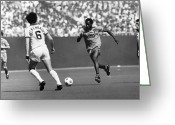 Soccer Stadium Greeting Cards - SOCCER MATCH, c1977 Greeting Card by Granger