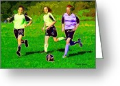 Kick Digital Art Greeting Cards - Soccer Greeting Card by Stephen Younts