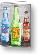Kick Digital Art Greeting Cards - Soda Pops Greeting Card by Russell Pierce