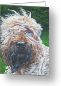 Soft Painting Greeting Cards - Soft Coated Wheaten Terrier Greeting Card by Lee Ann Shepard