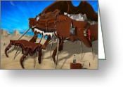Dali Like Art Greeting Cards - Soft Grand Piano SE 2 Greeting Card by Mike McGlothlen