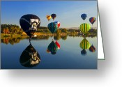Balloons Greeting Cards - Soft Landings Greeting Card by Mike  Dawson