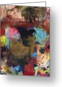 Abstract Prints Greeting Cards - Soft Limits Greeting Card by Michel  Keck
