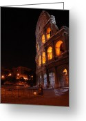 People Walking Greeting Cards - Soft nightlight Greeting Card by Alessandro Della Pietra