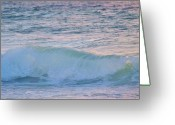 Surf Silhouette Greeting Cards - Soft Oceans Breeze  Greeting Card by E Luiza Picciano