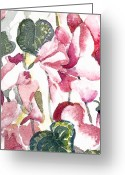 Pink Flower Prints Digital Art Greeting Cards - Soft Pink Greeting Card by Mindy Newman