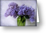Violet Greeting Cards - Soft Spoken Greeting Card by Jessica Jenney