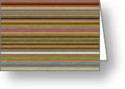 Stripe.paint Greeting Cards - Soft Stripes l Greeting Card by Michelle Calkins
