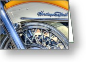 Motorcycle Photo Greeting Cards - Softail Greeting Card by Scott Norris