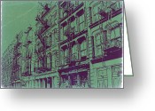 Manhattan Greeting Cards - Soho New York Greeting Card by Irina  March