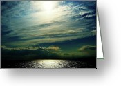 Oceano Greeting Cards - Sol cielo y mar Greeting Card by Sebastian