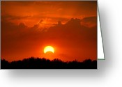 Lunar Greeting Cards - Solar Eclipse Greeting Card by Bill Pevlor